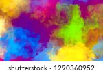 abstract colorful watercolor... | Shutterstock . vector #1290360952