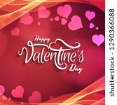 happy valentine's day stylish...   Shutterstock .eps vector #1290366088