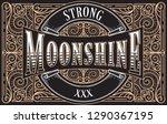 moonshine vintage decorative... | Shutterstock .eps vector #1290367195