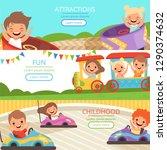 Amusement Park Banners. Family...