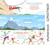 mountain climbing pictures.... | Shutterstock .eps vector #1290374635