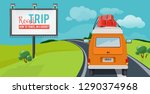 road trip. adventure concept... | Shutterstock .eps vector #1290374968