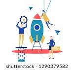 startup   flat design style... | Shutterstock .eps vector #1290379582