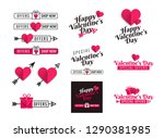 banners and ribbons for social...   Shutterstock .eps vector #1290381985