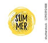 summer logo with doodle hand... | Shutterstock .eps vector #1290392488