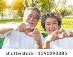 grandma and grandpa or... | Shutterstock . vector #1290393385