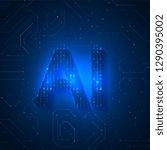 artificial intelligence...   Shutterstock .eps vector #1290395002