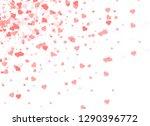 heart confetti falling down... | Shutterstock .eps vector #1290396772