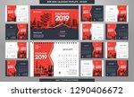 desk calendar 2019 template  ... | Shutterstock .eps vector #1290406672