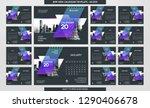 desk calendar 2019 template  ... | Shutterstock .eps vector #1290406678