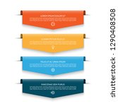 infographic banner with 4... | Shutterstock .eps vector #1290408508