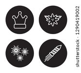 4 linear vector icon set   fun... | Shutterstock .eps vector #1290419002