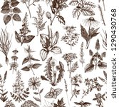 seamless pattern with hand... | Shutterstock .eps vector #1290430768