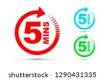 five minutes icon set   Shutterstock .eps vector #1290431335