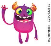 cartoon funny monster.... | Shutterstock .eps vector #1290433582