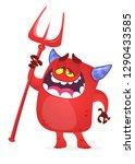 cartoon illustration of funny... | Shutterstock .eps vector #1290433585