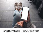 top view mockup image of a... | Shutterstock . vector #1290435205