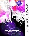 dance party | Shutterstock .eps vector #129043688