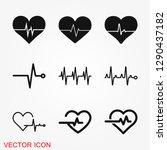heartbeat icon logo ... | Shutterstock .eps vector #1290437182