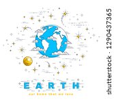planet earth in space... | Shutterstock .eps vector #1290437365