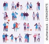 illustration with happy cartoon ... | Shutterstock .eps vector #1290439975