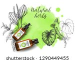 product mockup and sketch... | Shutterstock .eps vector #1290449455