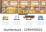 warehouse and distribution... | Shutterstock .eps vector #1290450022
