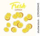 Fresh Lemon Hand Drawn Vector...