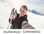 Handome Skier In The Snow...