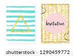 bridal shower set with dots and ... | Shutterstock .eps vector #1290459772