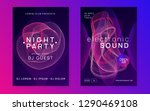 electronic party. dynamic... | Shutterstock .eps vector #1290469108