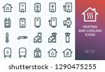 home heating system icons set.... | Shutterstock .eps vector #1290475255