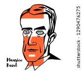 maurice ravel engraved vector... | Shutterstock .eps vector #1290476275