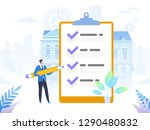 successful completion of... | Shutterstock .eps vector #1290480832