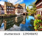 traditional half timbered... | Shutterstock . vector #129048692