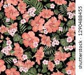 seamless tropical flower.... | Shutterstock .eps vector #1290488455