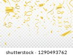 gold confetti celebration... | Shutterstock .eps vector #1290493762