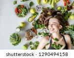 beauty portrait of a woman... | Shutterstock . vector #1290494158