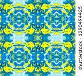 abstract marbling  ebru style...   Shutterstock . vector #1290494425