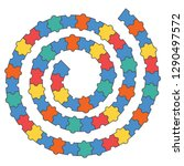 abstract puzzle spiral. vector... | Shutterstock .eps vector #1290497572
