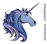 magic unicorn head as an... | Shutterstock .eps vector #1290499162