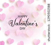 valentine's day background with ... | Shutterstock .eps vector #1290502588