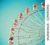 vintage ferris wheel over... | Shutterstock . vector #129050342