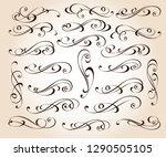 calligraphic elegant elements... | Shutterstock .eps vector #1290505105