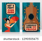 two banners for flamenco show ...