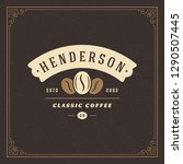 coffee shop logo design... | Shutterstock .eps vector #1290507445