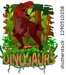 tyrannosaurus on the background ... | Shutterstock .eps vector #1290510358