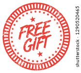 free gift. red stamp. | Shutterstock .eps vector #1290520465