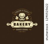 bakery badge or label retro... | Shutterstock .eps vector #1290525622