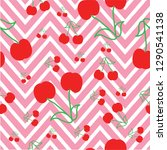 red zigzag background cherry... | Shutterstock .eps vector #1290541138